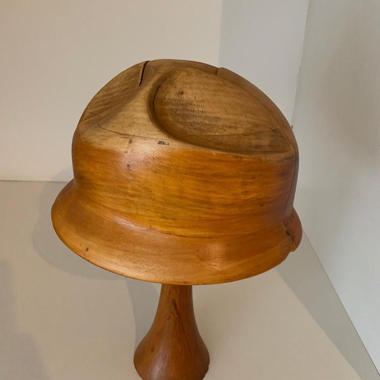 Vintage Wooden Hat Form For Sale 2