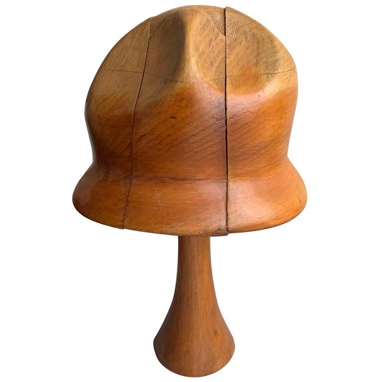 Vintage Wooden Hat Form For Sale
