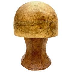 Vintage Wooden Hat Form Mold, Vienna, Austria, 1930s