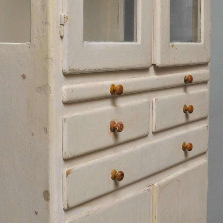 Vintage Wooden Medical Cabinet, 1940s For Sale 1