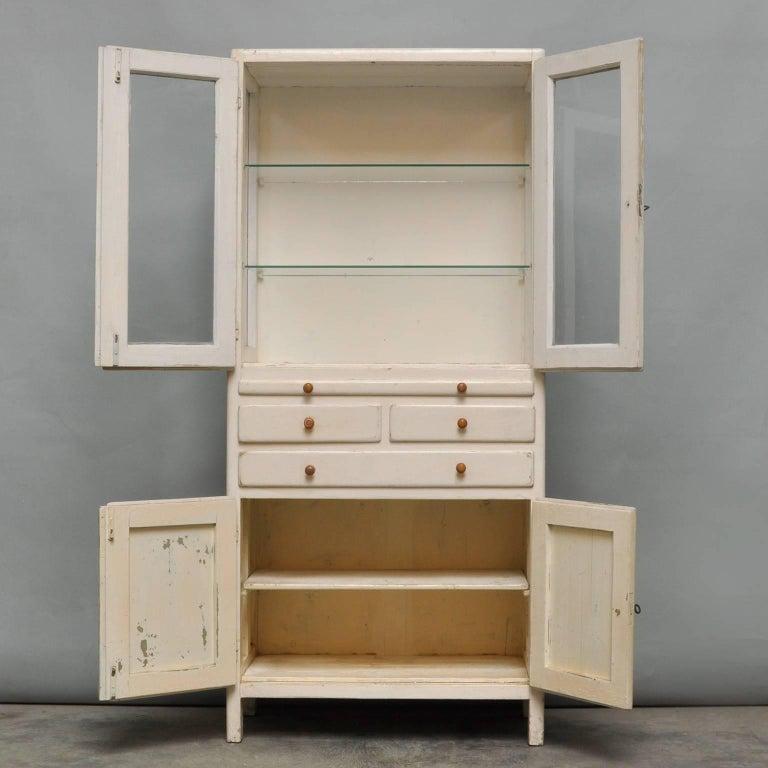 Vintage Wooden Medical Cabinet, 1940s For Sale 2