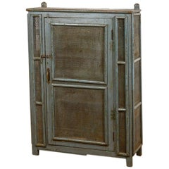 Vintage Wooden Mesh Front Pantry Cabinet, 20th Century