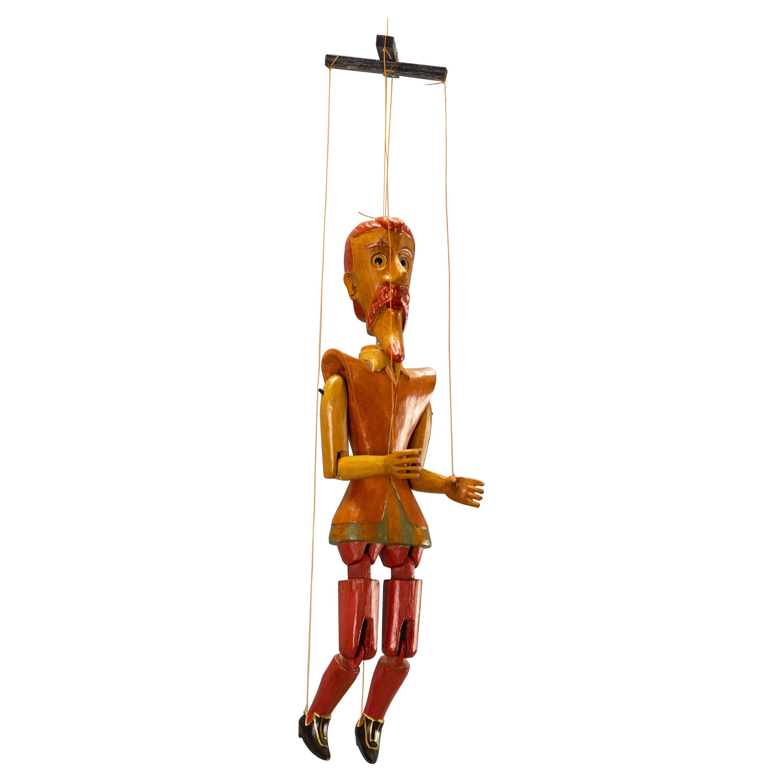 Vintage Wooden Puppet Marionette Don Quixote