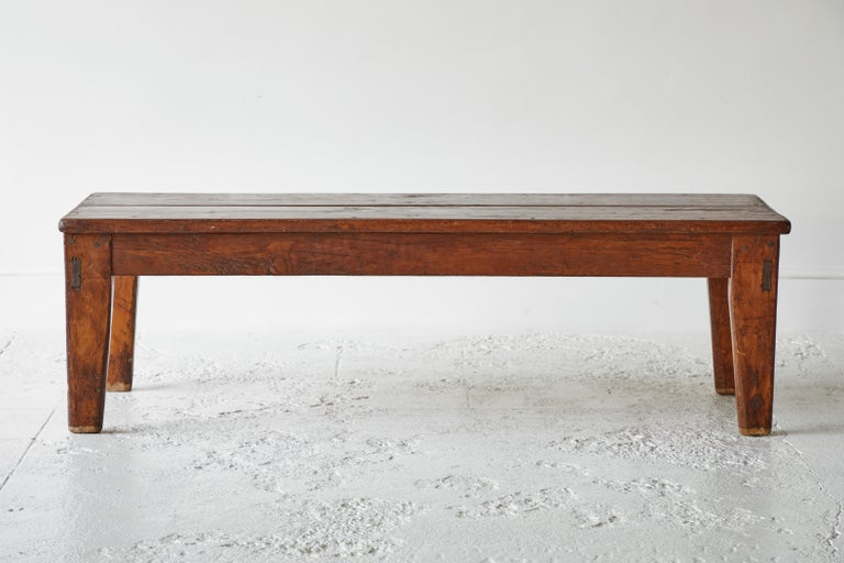 Vintage Wooden Rectangular Coffee Table In Good Condition For Sale In Los Angeles, CA