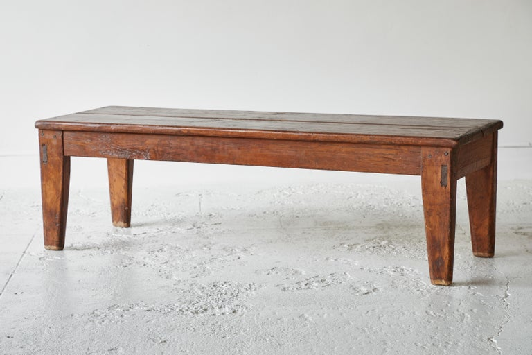 20th Century Vintage Wooden Rectangular Coffee Table For Sale