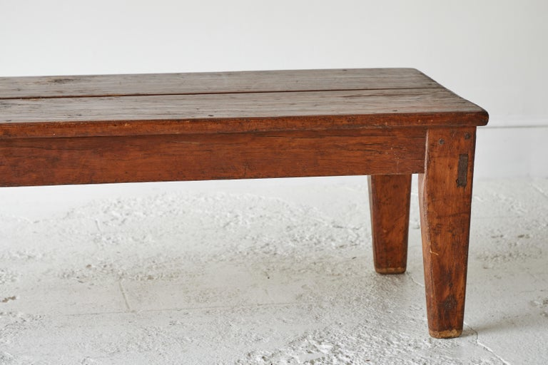 Vintage Wooden Rectangular Coffee Table For Sale 3