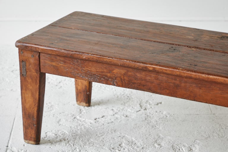 Vintage Wooden Rectangular Coffee Table For Sale 4