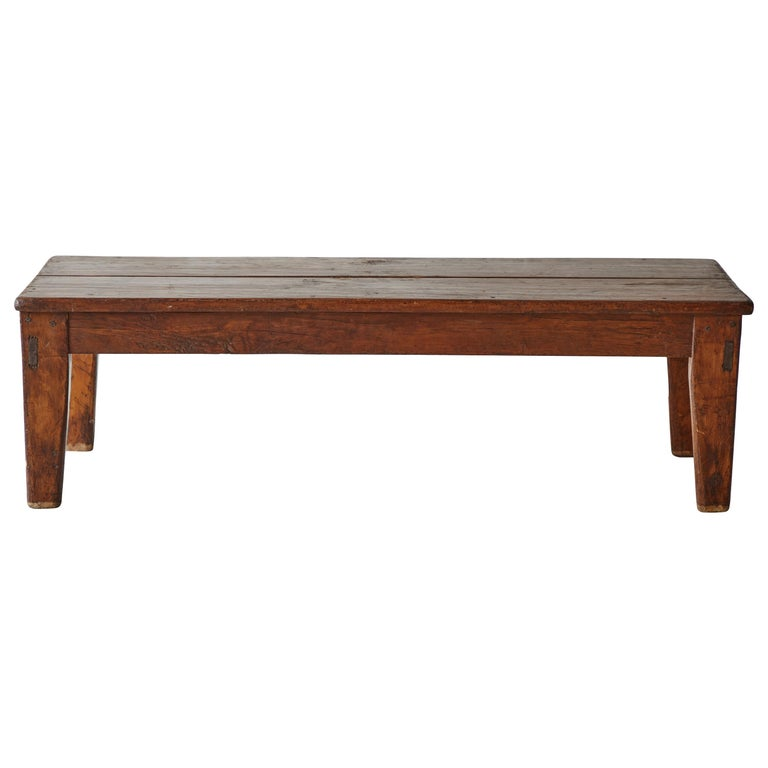 Vintage Wooden Rectangular Coffee Table For Sale