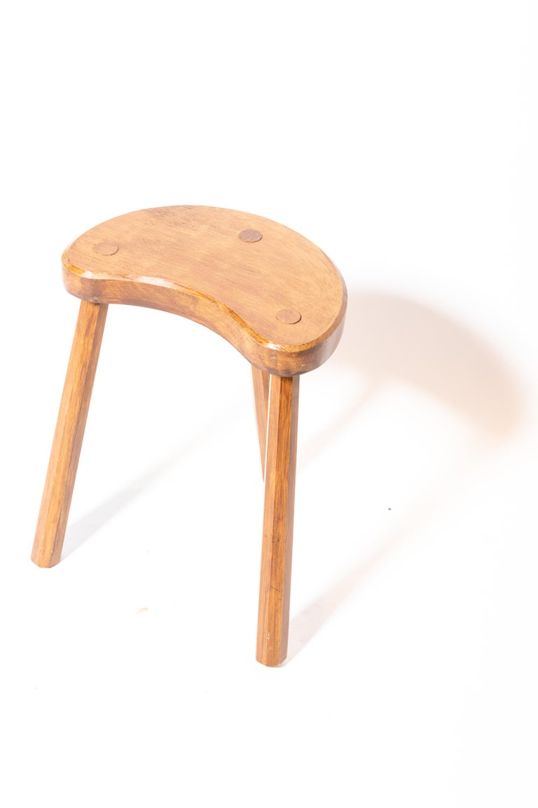 Vintage Wooden Tabouret Stool, France, circa 1950s In Good Condition For Sale In New York City, NY