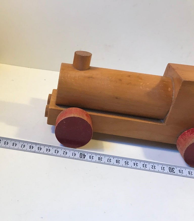 Mid-20th Century Vintage Wooden Toy Locomotive by Kay Bojesen, Denmark, 1960s For Sale