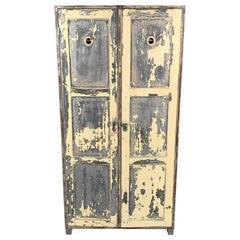 Vintage Wooden Wardrobe, Original Paint, 1930s