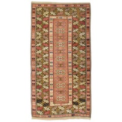 Vintage Wool Turkish Milas Style Woven Made Rug