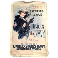 Vintage World War II Navy Poster