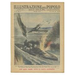 Vintage World War II Prints of the Italian Newspaper 'Gazzetta del Popolo'