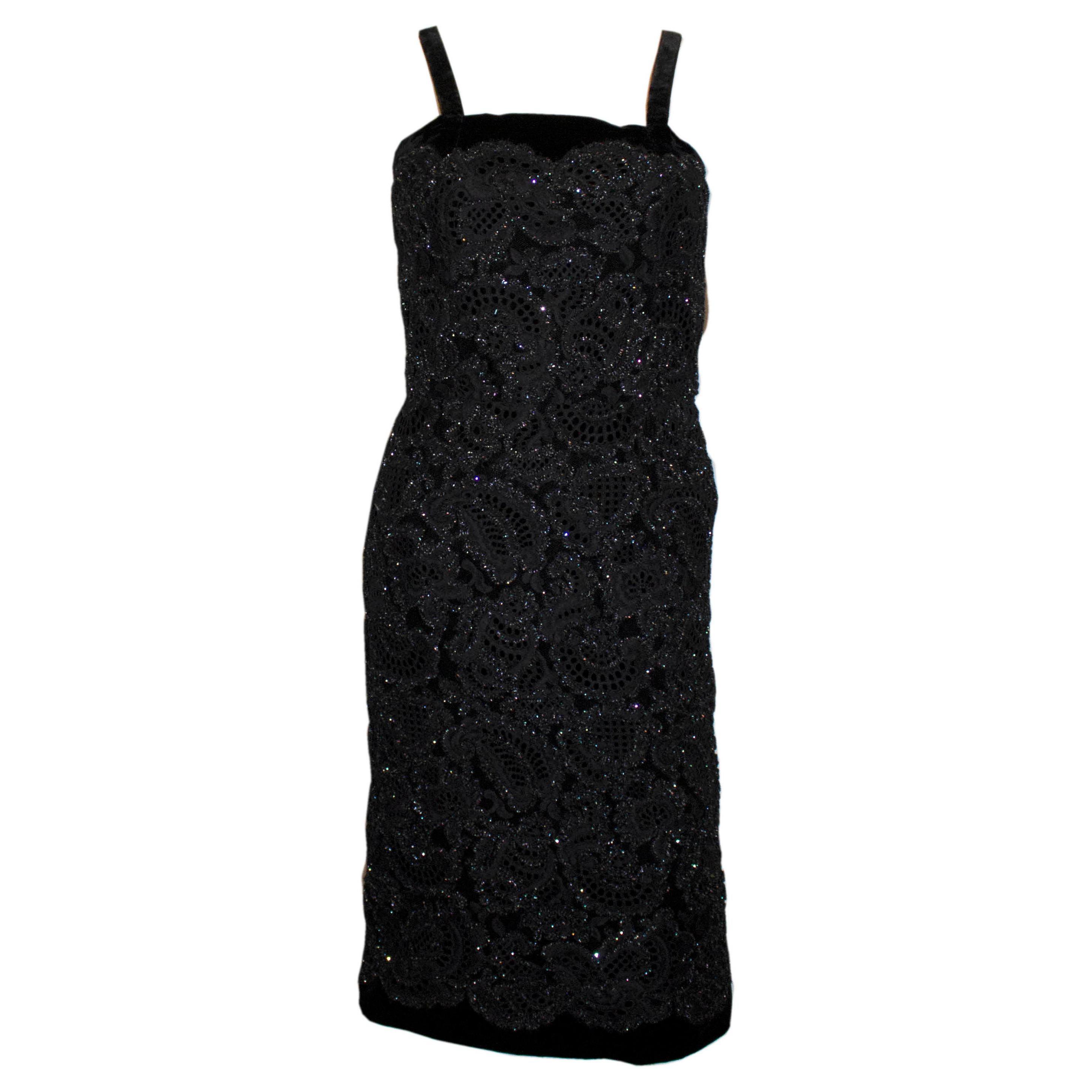 Vintage Worth Black Cocktail Dress
