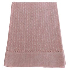 Vintage Woven Hand Towel in Light Salmon Color