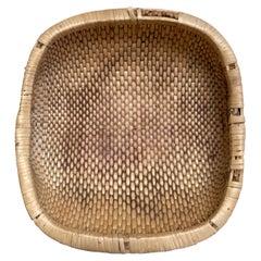 Vintage Woven Low Baskets
