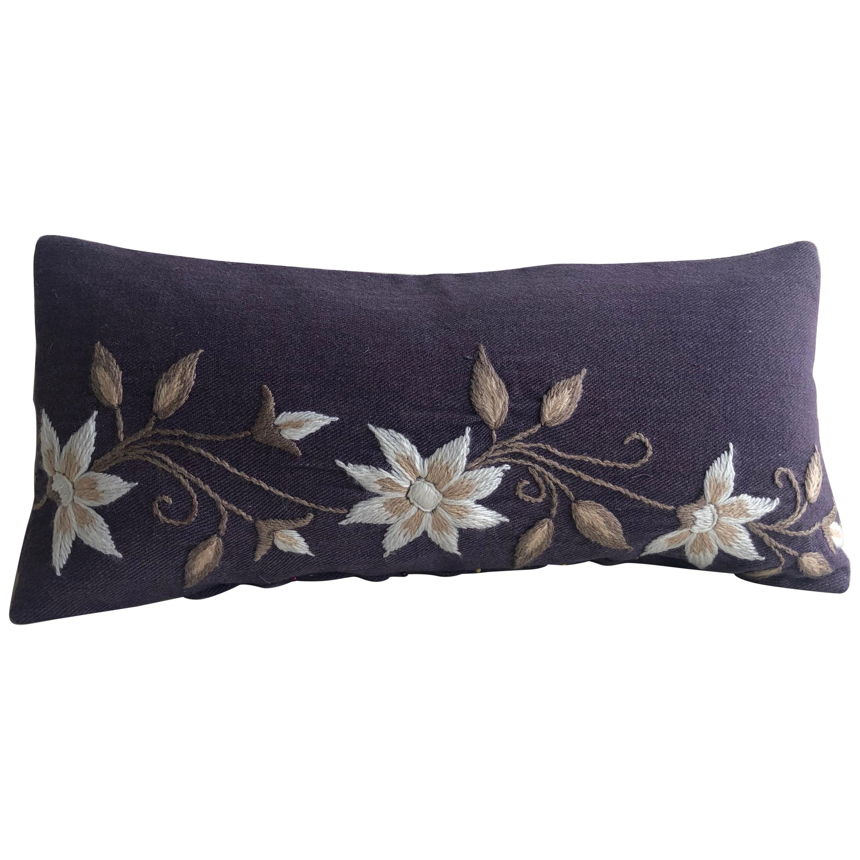 White Bolster Decorative Pillow
