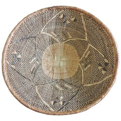 Vintage Woven Seagrass Ethnic Round African Deep Basket