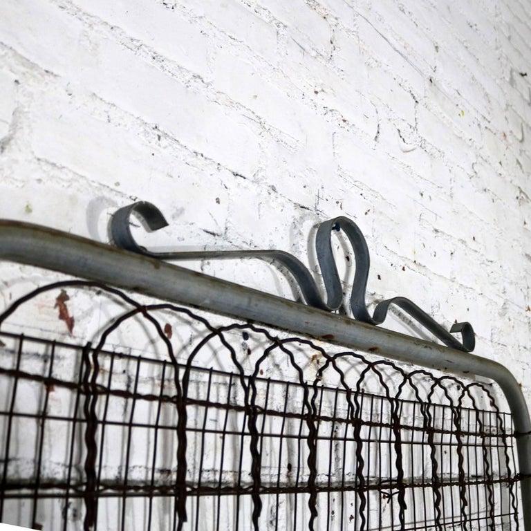 Vintage Woven Wire Cottage Style Garden Gate Patinated Galvanized ...