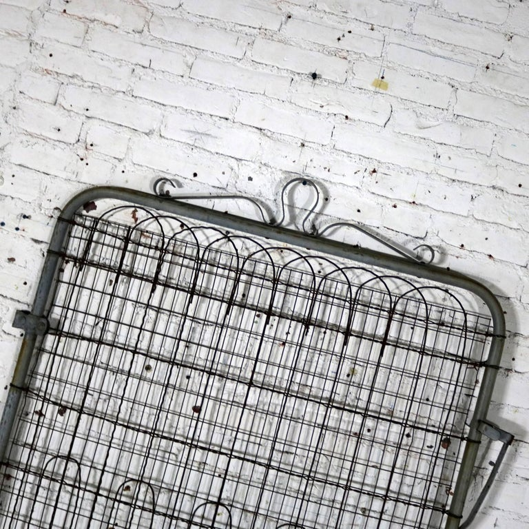 Vintage Woven Wire Cottage Style Garden Gate Patinated Galvanized ...