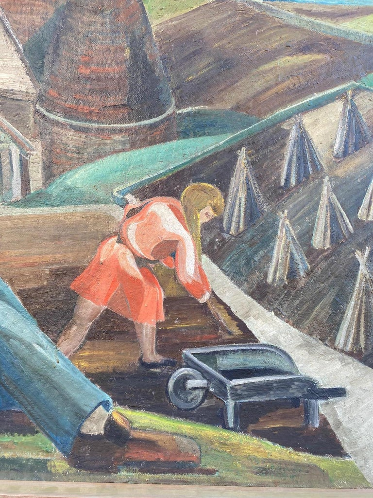 Vintage WPA Style Oil Painting For Sale 1