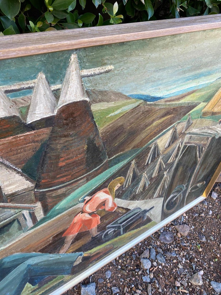 Vintage WPA Style Oil Painting For Sale 4