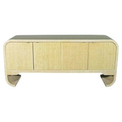 Vintage Wrapped Sideboard in the Style of Karl Springer