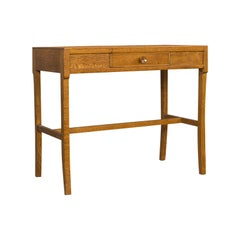 Vintage Writing Desk Side Table Oak, Hall, Console, Arts & Crafts, 20th Century
