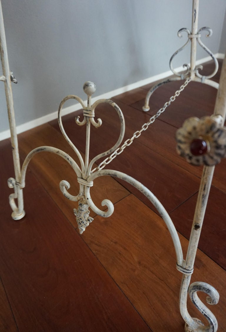 Vintage Wrought Iron Adjustable Display Easel Painting Stand Romantic Style For Sale Stdibs
