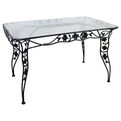 Vintage Wrought Iron Meadowcraft Dogwood Iron Outdoor Patio Dining Table