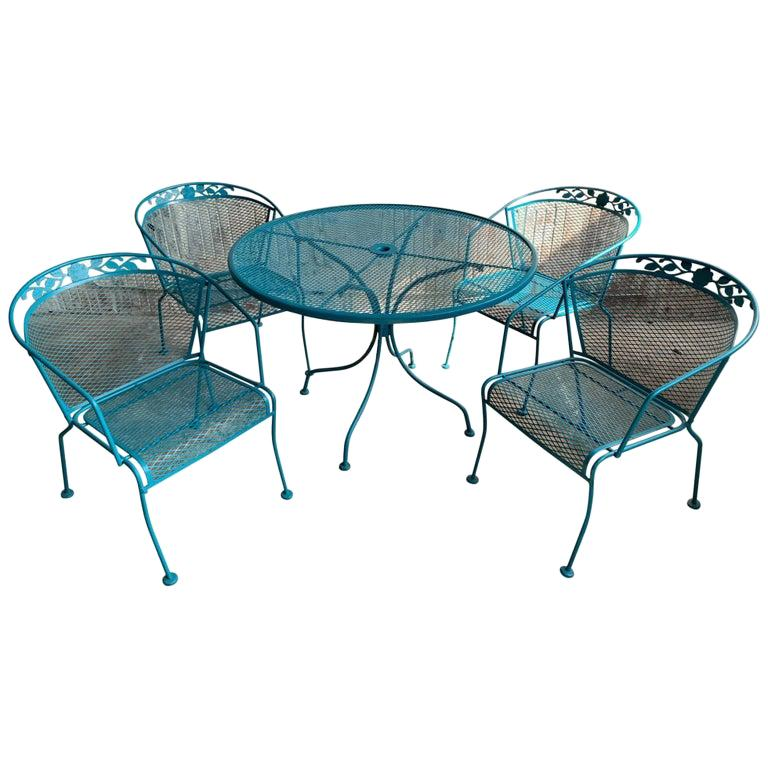 Vintage Wrought Iron Patio Set In The, Wrought Iron Patio Furniture Craigslist