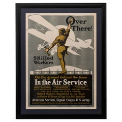 "Army Air Service ""Over There!"" WW I Recruitment Poster by Louis Fancher, 1918"
