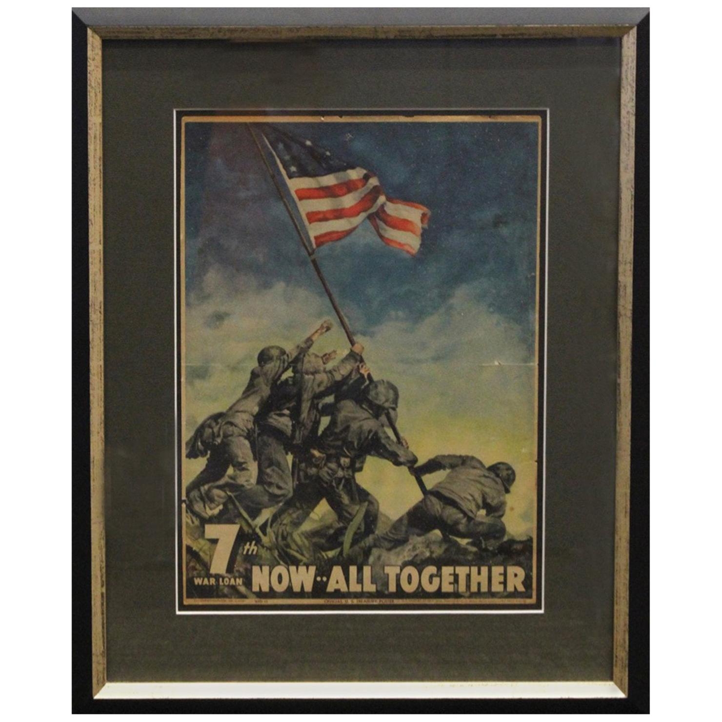 """Vintage WWII Poster, """"Now All Together"""", 1945"""