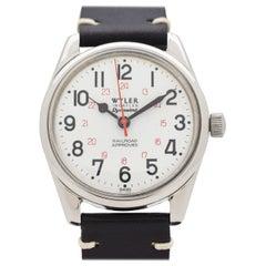 Vintage Wyler Incaflex Dynawind Lifeguard Stainless Steel Watch, 1960s