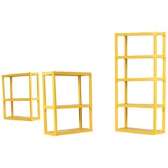Vintage Yellow Acrylic Modular Shelving System and Etagere by Syroco New York