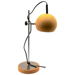 Vintage Yellow Adjustable Desk/Side-Table Lamp by GURA-Leuchten