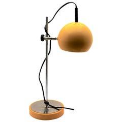 Vintage Yellow Adjustable Desk/Side Table Lamp by GURA-Leuchten