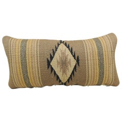 Vintage Yellow and Tan Navajo Style Woven Decorative Lumbar Pillow