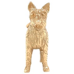 Vintage Yellow Gold Dog Pendant