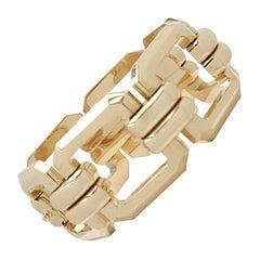 Vintage Yellow Gold Square Link Bracelet