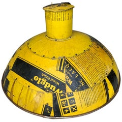 Vintage Yellow Industrial Aluminium Pendant Light