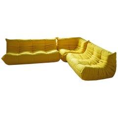 Vintage Yellow Togo Living Room Set by Michel Ducaroy for Ligne Roset