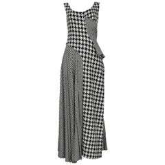 Vintage Yohji Yamamoto 2003 Houndstooth Wool Dress