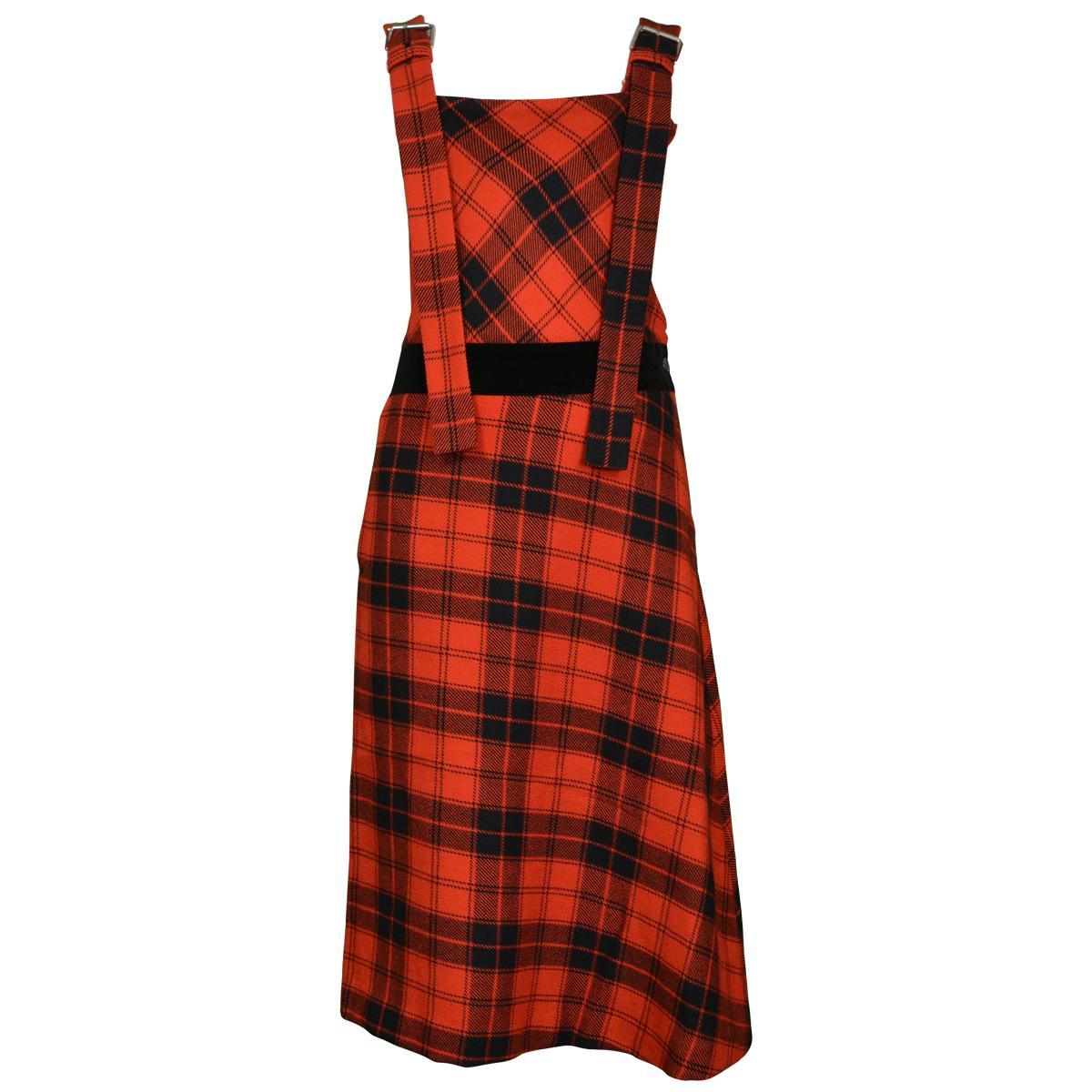 Vintage Yohji Yamamoto Red Plaid Jumper Dress 2003