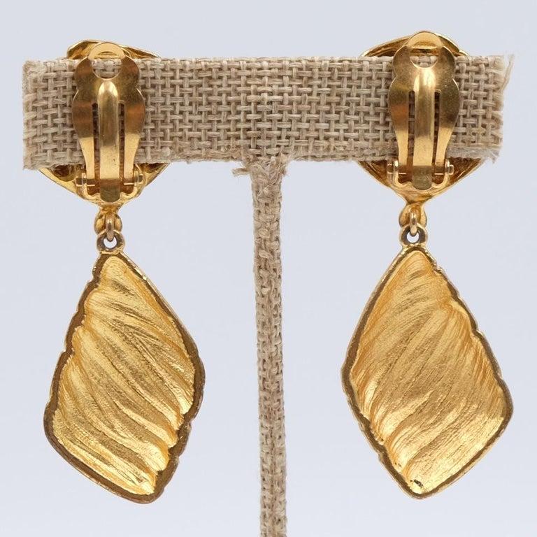 Vintage YSL Geometry Clip-on Earrings 1980s For Sale 1