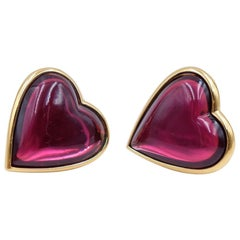 Vintage YSL Hearts Massive Earrings