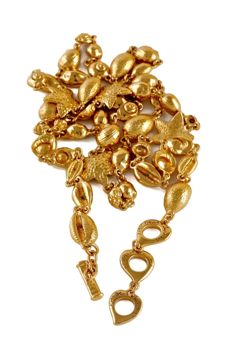 Vintage YSL Yves Saint Laurent by Robert Goossens Sea Shells Textured Bracelet N For Sale 1