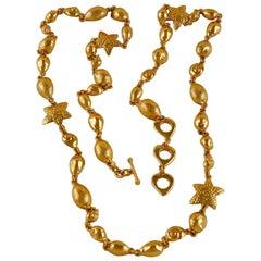 Vintage YSL Yves Saint Laurent by Robert Goossens Sea Shells Textured Bracelet N