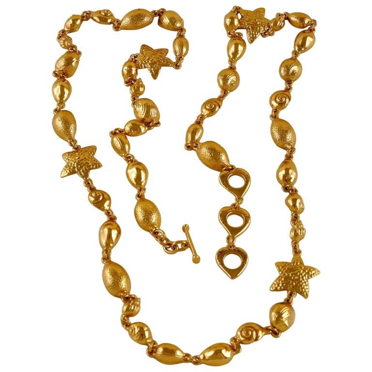 Vintage YSL Yves Saint Laurent by Robert Goossens Sea Shells Textured Bracelet N For Sale